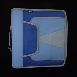 Mead Blue Zipper Binder - EUC